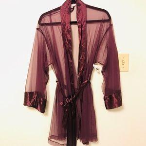 Victoria Secret Purple Lace Robe